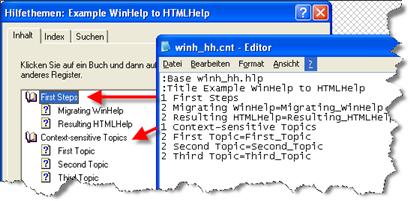 Converting WinHelp (HLP) to HTMLHelp (CHM)